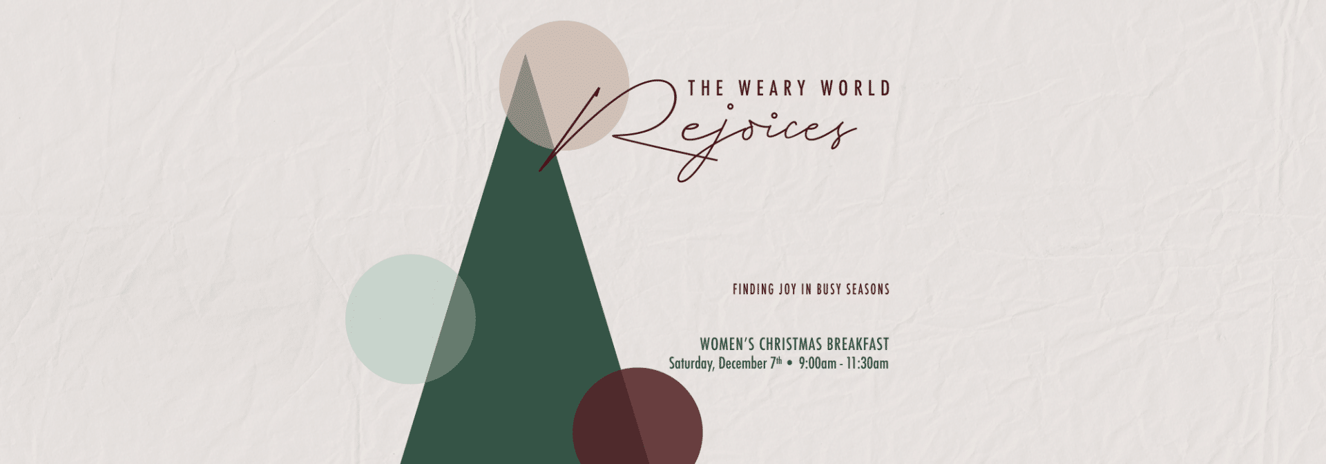 A Weary World Rejoices