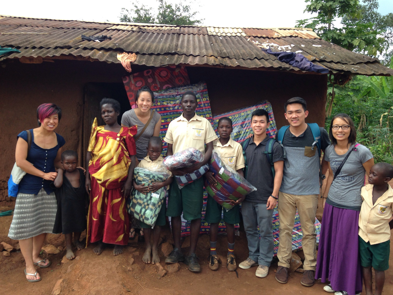 As part of the Mercy Ministry, we delivered some bedding to two families of students at GSF.