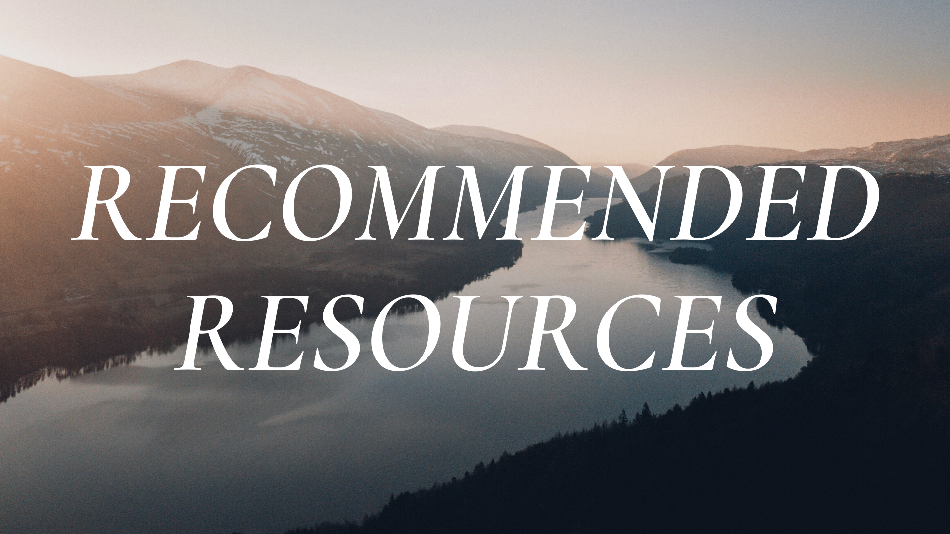 Recommended Resources: January 18, 2021