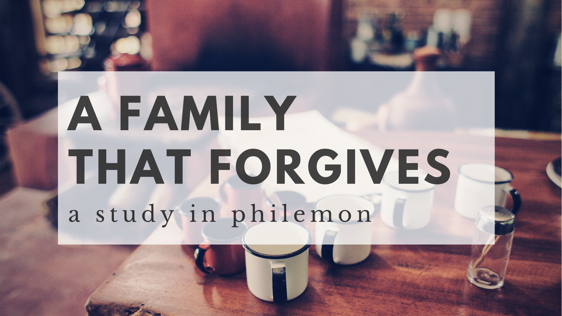 Gospel-Fueled Forgiveness Part 1 (Philemon 8-16)