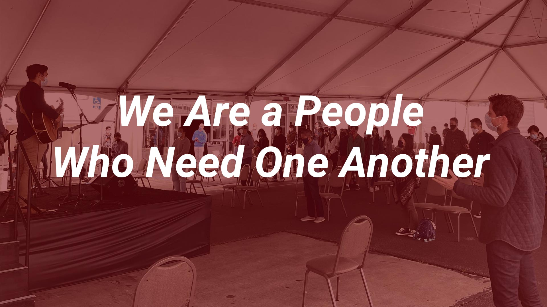 We are a People Who Need One Another (Hebrews 10:19-25)